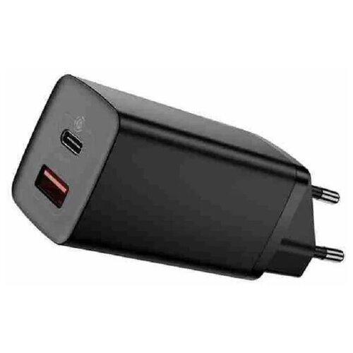 Фото - Сетевое зарядное устройство Baseus GaN2 Lite Quick Charger C+U 65W EU Black (CCGAN2L-B01) зарядное устройство baseus compact quick charger u c 20w eu black ccxj b01