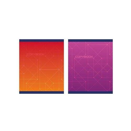 Купить Тетрадь общая Attache Alpha A5 96 листов в клетку на скрепке (обложка фиолетовая/красная, в ассортименте) 7 шт., Тетради