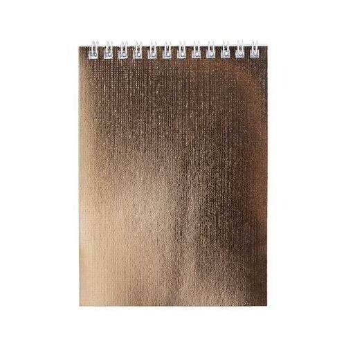 Купить Блокнот Hatber Metallic А5 80 листов золотистый в клетку на спирали (148x210 мм) 6 шт., Блокноты и записные книжки