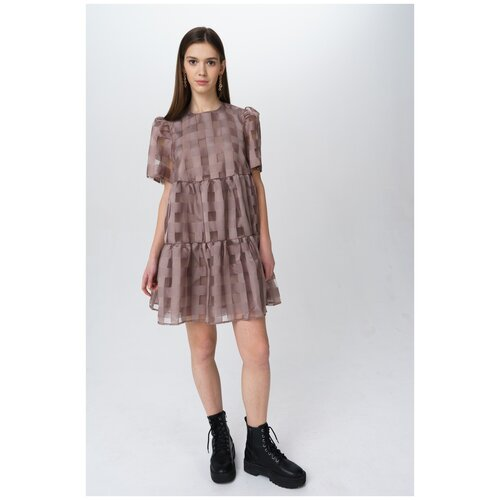 Платье Befree, размер M/46, темно-бежевый/песочный платье befree befree be031ewbxib1