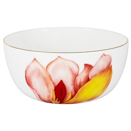 Фото - Салатник Magnolia 14 см 750 мл в подарочной упаковке, костяной фарфор, Anna Lafarg Emily, AL-706M-E11 салатник anna lafarg emily magnolia 14 см 750 мл