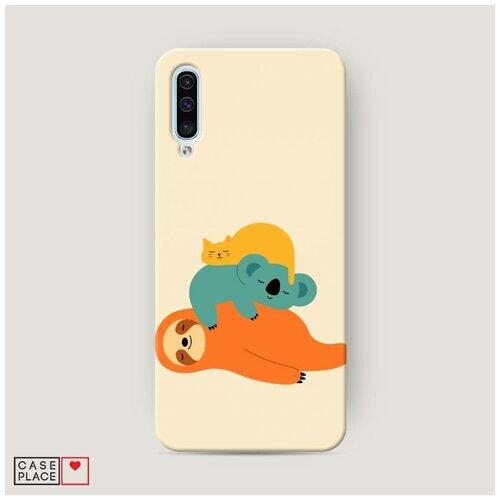 Чехол Пластиковый Samsung Galaxy A50 Ленивая компания