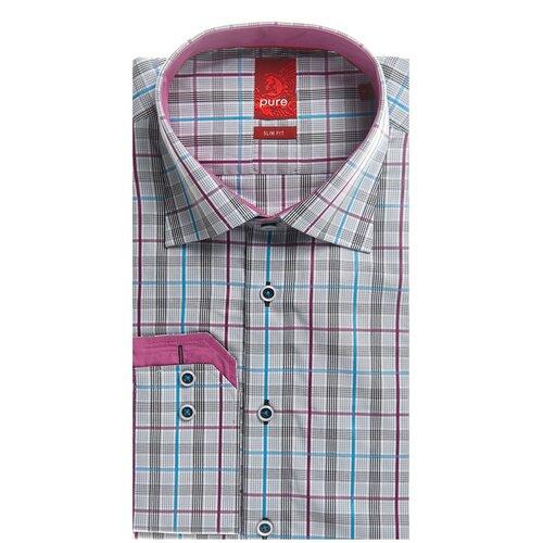 Рубашка pure размер M серый/фиолетовый