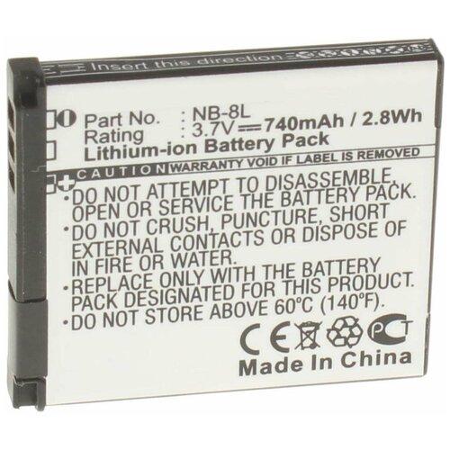 Аккумулятор iBatt iB-U1-F128 740mAh для Canon PowerShot A2200, PowerShot A3300 IS, PowerShot A3100 IS, PowerShot A3000 IS, PowerShot A3200 IS, PowerShot A3150 IS
