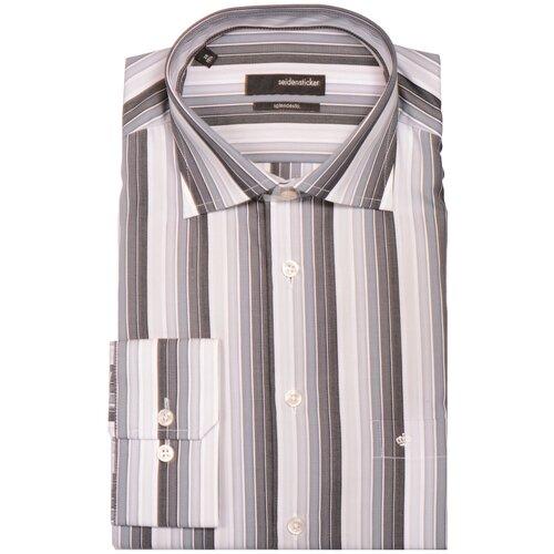 Рубашка Seidensticker размер 40 серый/белый