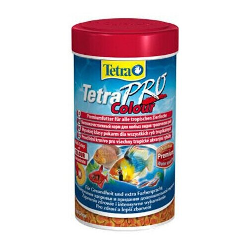 Фото - Pro Color Crisps 250мл, Tetra, хлопья для усиления окраса у всех видов декоративных рыб tetra корм tetra pro color crisps чипсы для улучшения окраса всех декоративных рыб 100 мл