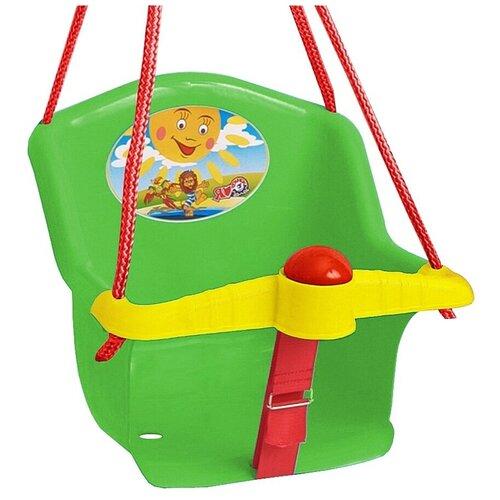 Фото - Качели Orion Бонифаций, с барьером безопасности, с клаксоном, зеленые качели orion toys подвесные ор757в2