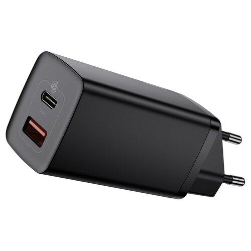 Фото - Сетевое зарядное устройство Baseus GaN2 Lite Quick Charger C+U 65W EU (CCGAN2L-B01) Чёрное зарядное устройство baseus compact quick charger u c 20w eu black ccxj b01
