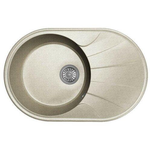 Мойка для кухни Dr. Gans Smart, Виола-740, серый, камень, врезная, овальная (46637)