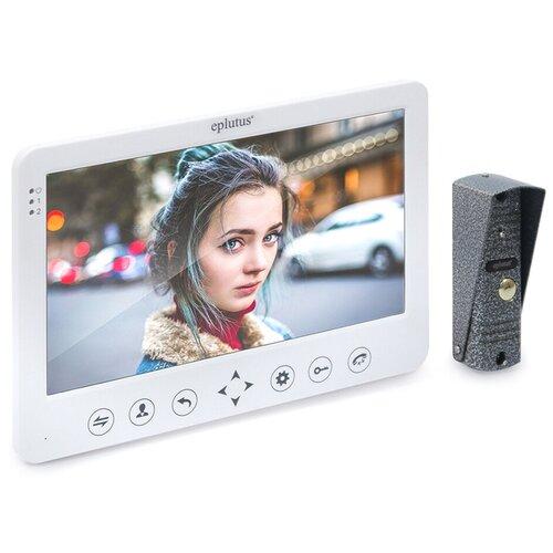 Домофон Eplutus EP-4105 - видеодомофон для частного дома, электронный домофон, видеозвонок в квартиру, видеодомофон белый