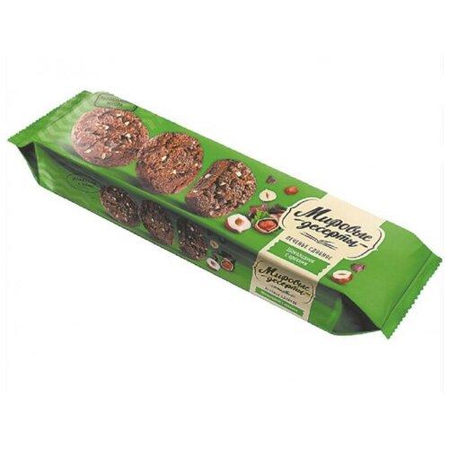 Фото - Печенье Брянконфи сдобное шоколадное с орехами, 170г 3 шт. кухмастер печенье сахарное шоколадное 170г кухмастер