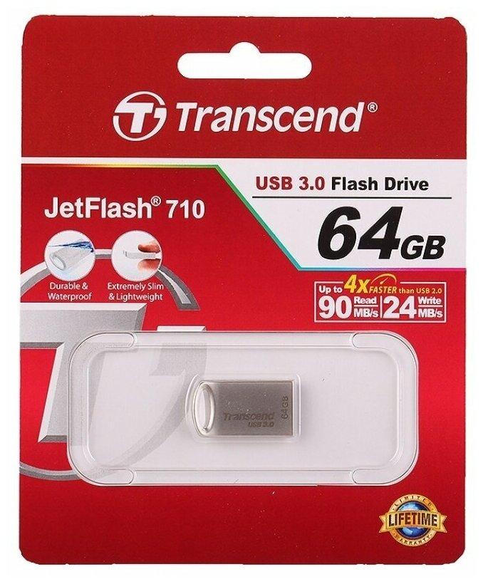 Флеш-накопитель USB3.0 64GB Transcend JetFlash 710 S металл — купить по выгодной цене на Яндекс.Маркете