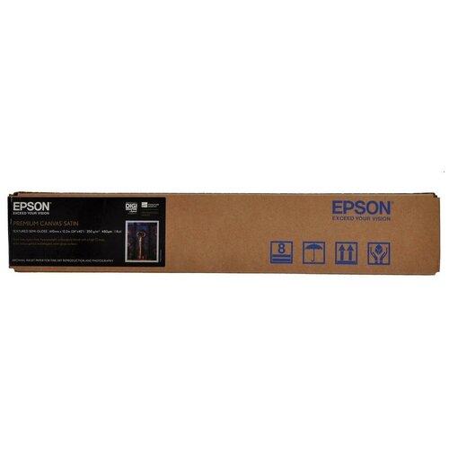 Фото - Epson C13S041847 Холст для плоттера сатинированный водостойкая, рулон A1 24 610 мм x 12.2 м, 350 г/м2, PremierArt Water Resistant Canvas, втулка 2 50.8 мм, для пигментных чернил epson бумага epson water resistant matte canvas 44 x 12 2м c13s042016