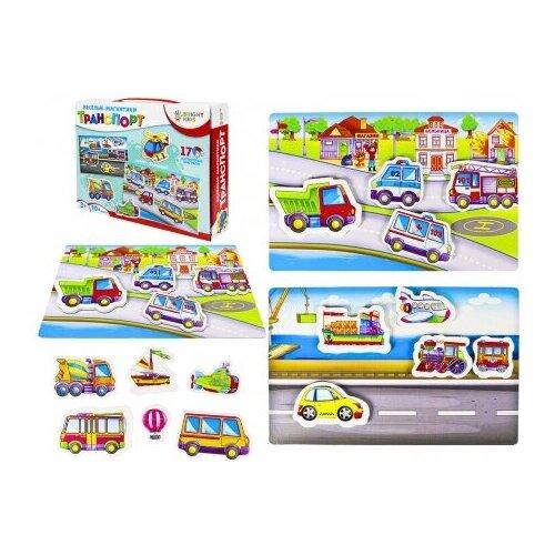 Купить Весёлые магнитики Транспорт Рыжий Кот ИН-7614/РК, Рыжий кот, Настольные игры