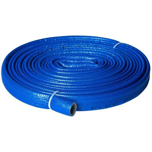 Теплоизоляция для труб K-FLEX PE COMPACT в синей оболочке 18/4 бухта 10м теплоизоляция для труб k flex каучук 54х13х2000 мм черная