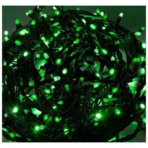 Гирлянда Нить, шнур черного цвета, 100 LED зелёных, China Dans, артикул 2013708