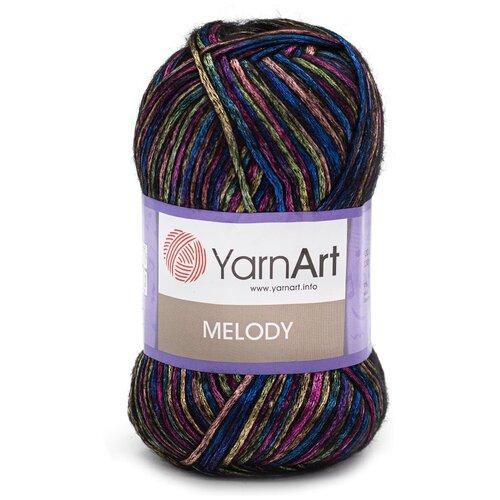Купить Пряжа YarnArt 'Melody' 100гр 230м (9% шерсть, 21% акрил, 70% полиамид) (901 секционный), 5 мотков