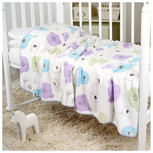 Фото - Плед-покрывало Baby Nice VELSOFT 3D Разноцветные мишки, 150х200 плед покрывало baby nice velsoft 3d птичка 150х200 бирюзовый