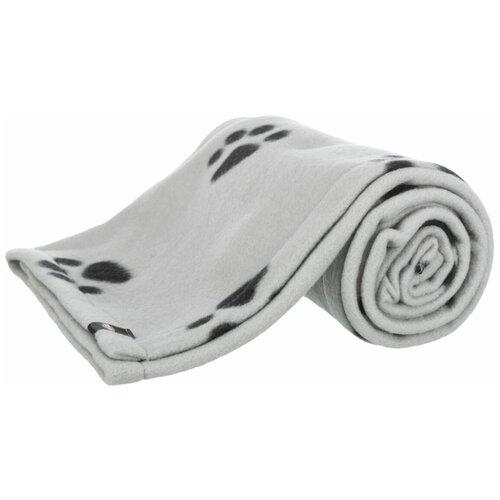 Подстилка-плед, 150 х 100 см, светло-серый / черный, Trixie (подстилка для собак, 37184, серия Barney)