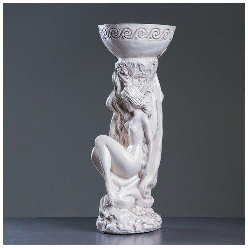 Фигура с кашпо Адам и Ева состаренный 25х26х65см фигура адам и ева большая бронза 27х42х70см