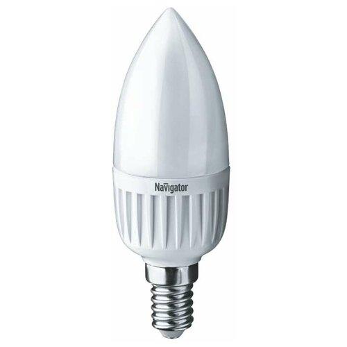Лампа светодиодная 94 482 NLL-P-C37-5-230-4K-E14-FR 5Вт свеча 4000К бел. E14 370лм 220-240В Navigator 94482 (упаковка 10 шт)