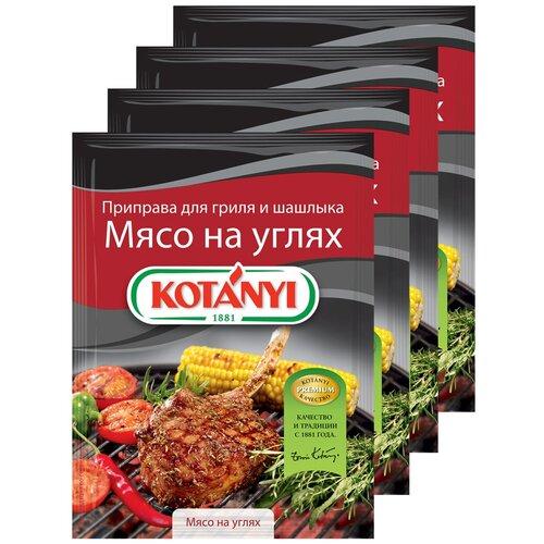 Приправа для гриля и шашлыка Мясо на углях, KOTANYI пакет 30 г (x4) приправа для тушеных овощей и рагу kotanyi пакет 25г x4