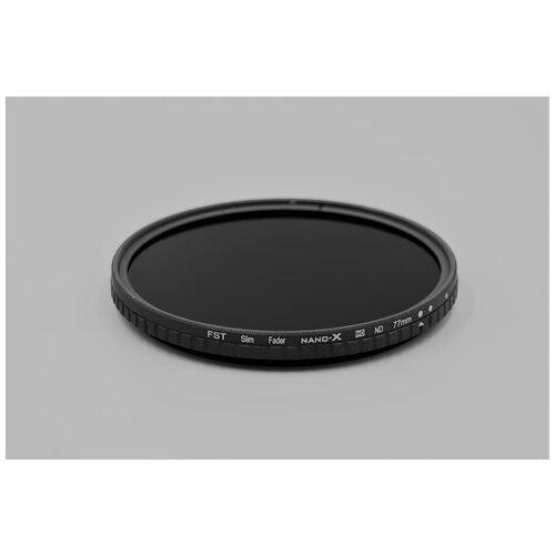 Фото - Нейтральный фильтр переменной плотности FST 77mm Nano-X Vari-ND 8-128 поляризационный фильтр fst 77mm nano x cpl