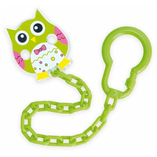 Купить Клипса-держатель для пустышек Canpol babies Сова , 0+, цвет зеленый (250930532), Пустышки и аксессуары