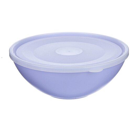 Контейнер/Контейнер с крышкой/для еды/для приготовления/для хранения/на пикник/термостойкий/2Л, фиолетовый