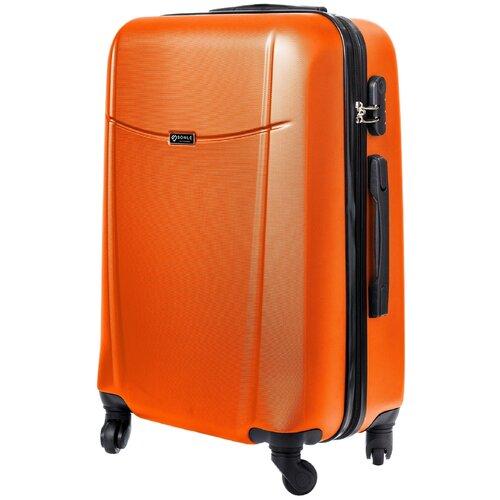 чемодан bonle премиум abs пластик салатовый размер s 55 см 37 л Чемодан Bonle, премиум ABS-пластик, Оранжевый, размер M, 65 см, 62 л