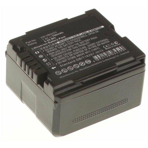 Фото - Аккумулятор iBatt iB-B1-F377 750mAh для Panasonic VW-VBG6, VW-VBG260, VW-VBG070A, VW-VBG130, VW-VBG070, VW-VBG260E-K, VW-VBG260-K, VW-VBG130E-K, аккумулятор ibatt ib b1 f457 3400mah для panasonic vw vbt190 vw vbt380 vw vby100 vw vbt380e k