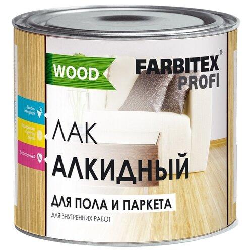 Лак Farbitex PROFI WOOD Алкидный высокопрочный для пола и паркета алкидный бесцветный 1.9 л