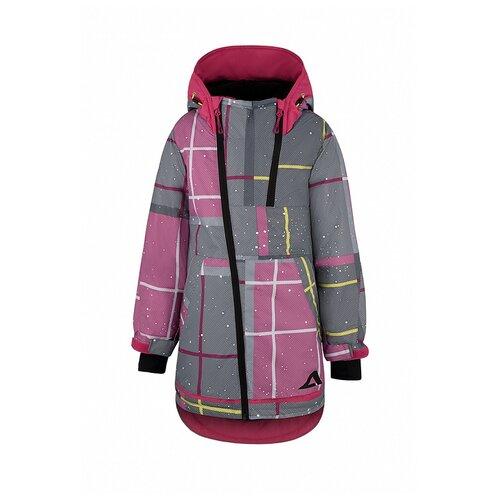 Купить Куртка Oldos размер 140, розовый/серый, Куртки и пуховики