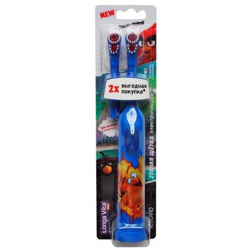 Электрическая зубная щетка Longa Vita Angry Birds цвет синий детская зубная щетка 5 longa vita angry birds 1 мл