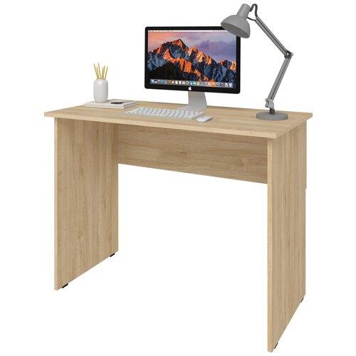Фото - Письменный стол СитиМебель компактный, ШхГ: 140х50 см, цвет: дуб сонома письменный стол ситимебель компактный шхг 140х50 см цвет венге цаво