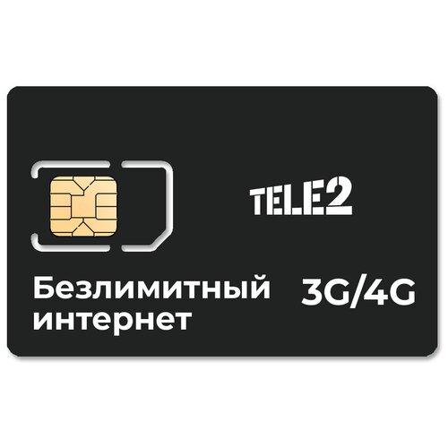 Сим-карта с тарифом с безлимитным интернетом ТЕЛЕ2 400 за 400 руб/мес