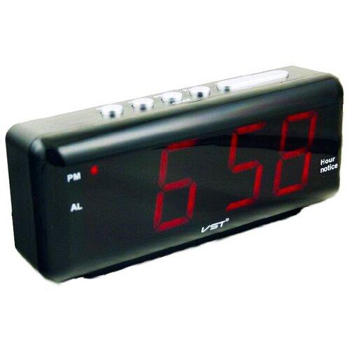 Часы-будильник настольные, говорящие VST-762W, красные