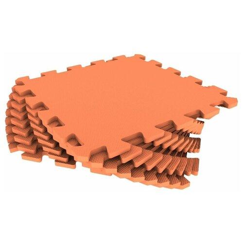 Мягкий пол универсальный Оранжевый 33*33 см, 9 деталей мягкий пол eco cover универсальный 30х30 см сад огород 9 деталей