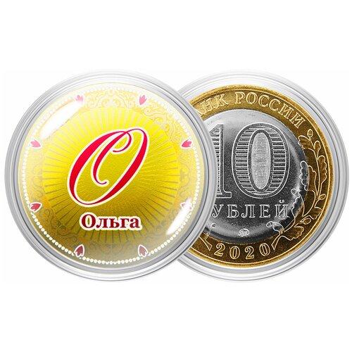 пухов е монета ефимок с признаком Сувенирная монета Именная монета - Ольга