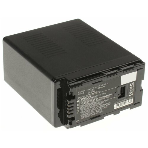 Фото - Аккумулятор iBatt iB-B1-F376 7800mAh для Panasonic VW-VBG6, VW-VBG260, VW-VBG070A, VW-VBG130, VW-VBG070, VW-VBG260E-K, VW-VBG260-K, VW-VBG130E-K, аккумулятор ibatt ib b1 f457 3400mah для panasonic vw vbt190 vw vbt380 vw vby100 vw vbt380e k