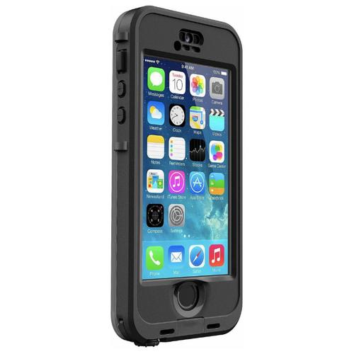 Водонепроницаемый водостойкий влагозащитный ударопрочный чехол-бампер для iPhone 5 / 5S/ SE/ 5SE (Айфон 5/ 5С/ 5СЕ) с защитой по стандарту IP68 и работающим сенсором черный