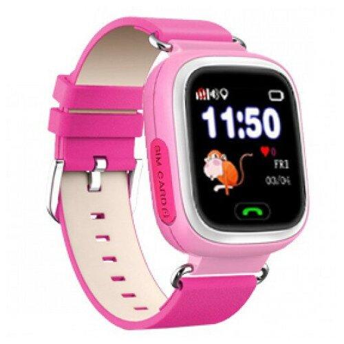 Детские умные часы Smart Baby Watch с GPS Q90 (Розовый) детские умные часы телефон с gps smart baby watch df25 голубые