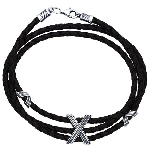 Фото - SOKOLOV Браслет из чернёного серебра 95050005, 22 см, 7.78 г sokolov шнур из чернёного серебра 95080008 50 см 1 76 г