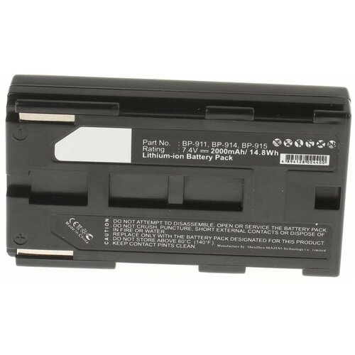 Аккумулятор iBatt iB-U1-F110 2000mAh для Canon G2000, G1000, XF100, EOS C100, XH A1, EOS C300, XF305, XL1S, XF300, EOS C500, V50Hi, XL H1, XH A1S, XH G1S, EOS C300 PL, EOS C100 EF, EOS C500 EF, XL H1S, G30Hi,