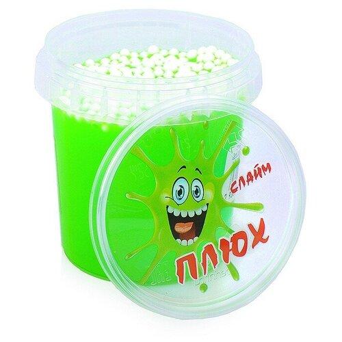 Лизун зеленый, контейнер с шариками, 140 гр.