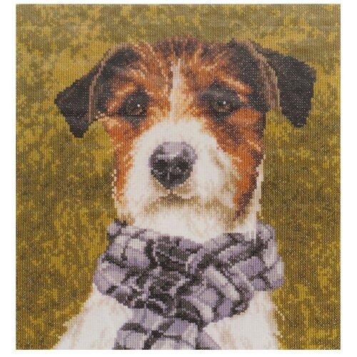 Купить Lanarte Набор для вышивания Собака с шарфом 28 х 29 см (0167505-PN), Наборы для вышивания