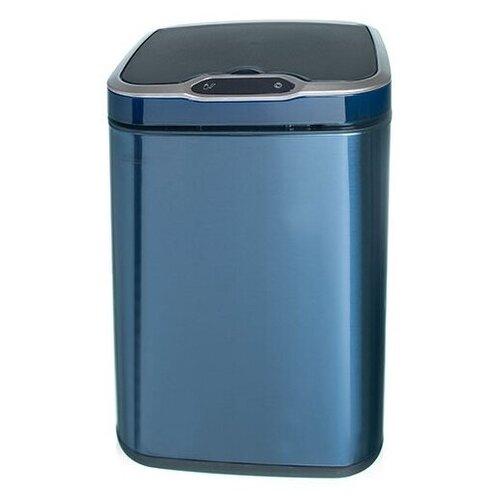 Ведро для мусора сенсорное, квадратное, внутр ведро, Foodatlas JAH-6311, 13 л (сапфировый) ведро для мусора держатель б полотенец foodatlas jah 543 6л белый