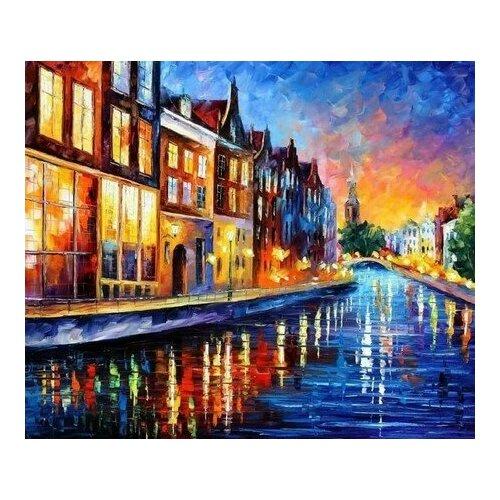 Купить Картина по номерам Каналы Амстердама, 30x30 см. Molly, Картины по номерам и контурам