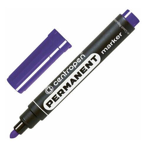 Купить Маркер перманентный CENTROPEN 8566, фиолетовый, круглый наконечник, 2, 5 мм, 5 8566 0105, 5 шт., Маркеры