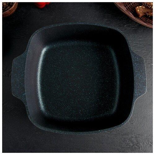 Фото - Кастрюля-жаровня Kukmara квадратная, Titanium pro, 4 л, стеклянная крышка, антипригарное покрытие, зеленый кастрюля жаровня квадратная с антипригарным покрытием со стеклянной крышкой kukmara titanium pro green жкт42а 4 л